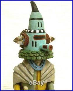 Vintage ZUNI SIO HEMIS TA-AMU Kachina Doll, Hopi Carved by Alban Mooya Jr, RARE