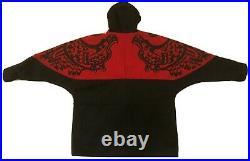 Vtg Nytom Makah Native American Totem Art Tribal Jacket Mens Sz L Red Black Rare
