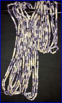 Wampum Beads 50 Piece Lot Drilled Native American Quahog Shell RARE PURPLE