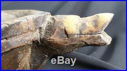 X-RARE Northwest Coast RAVEN Grease Bowl 1800s Suquamish, Bainbridge Island, WA